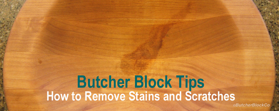 How to Remove Stains and Scratches from Butcher Block