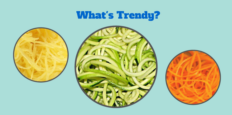 What's Trendy? Low-Carb Veggie Noodles!