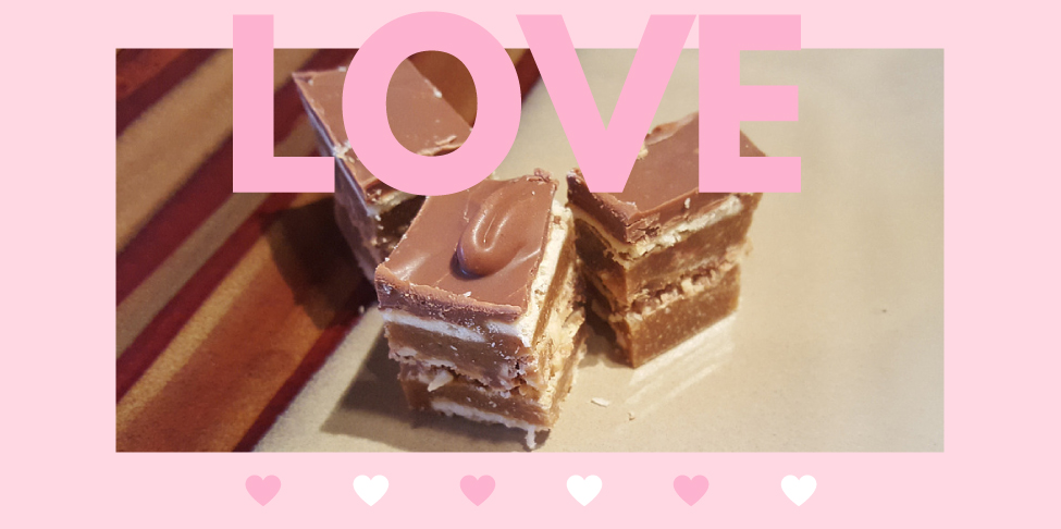 Valentine's Day Treat – Salted Caramel Peanut Stacks