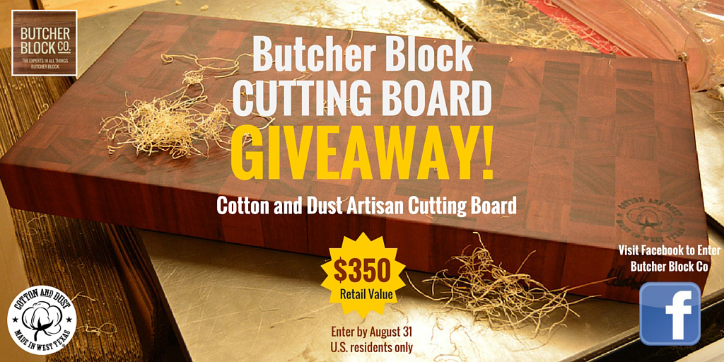 Butcher Block Co. Giveaway Promotes Tiger Wood Cutting Board, and Safe Food-Prep Practices