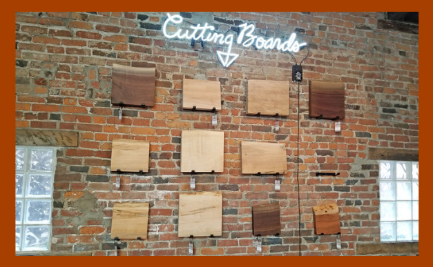 created hardwood cutting boards