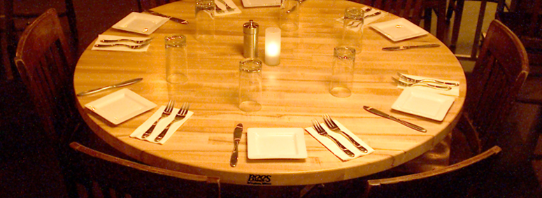 Boos butcher block dining tables