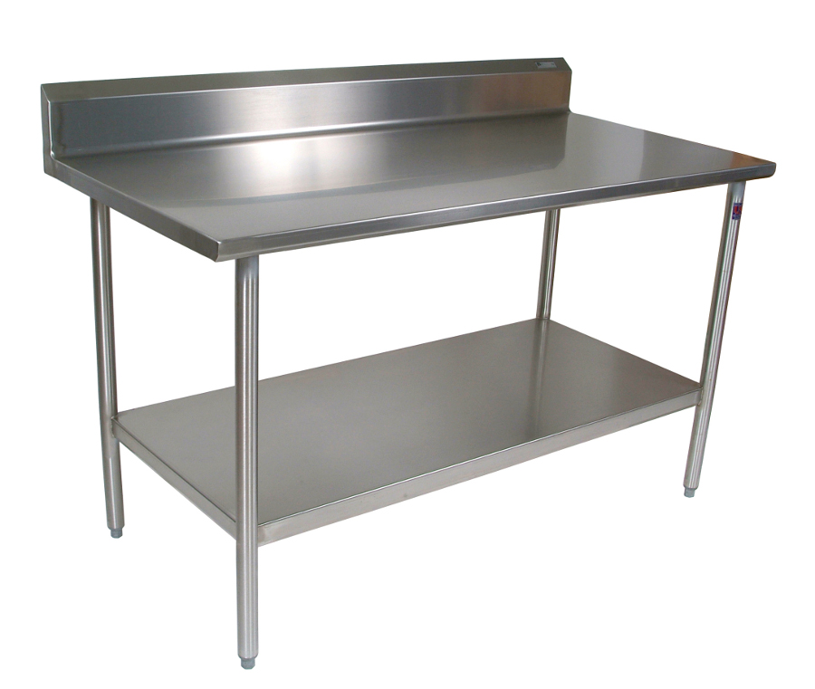 John Boos Stainless Steel Work Table with Riser